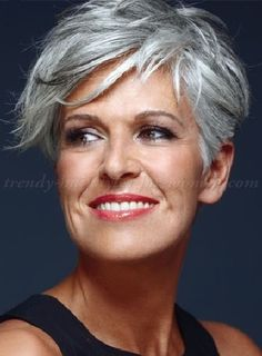 short hairstyles for women over 50 - short hairstyle for gray hair