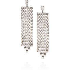 Erickson Beamon Temptress gold-plated Swarovski crystal earrings ($317) ❤ liked on Polyvore featuring jewelry, earrings, metallic, grey earrings, swarovski crystal jewellery, swarovski crystals earrings, gray earrings and metallic jewelry