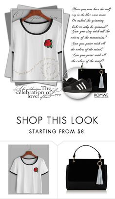 """""""romwe"""" by neomi-433 ❤ liked on Polyvore featuring adidas and Once Upon a Time"""