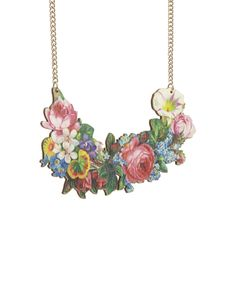 Decoupage Flower Large Necklace, £65: http://www.tattydevine.com/decoupage-flower-large-necklace