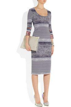 Preen  Emilia printed stretch satin-jersey dress