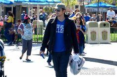 James Franco walking down Main Street #Disneyland  Picture taken by my friend @Yesenia Santillan 's husband Rick!!! <3