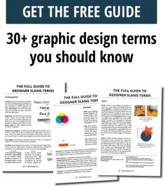 Not sure what your designer is talking about? Than this guide is for you! 30+ design terms explained. Get it now!