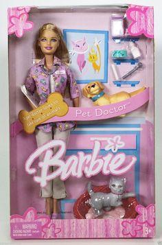 PET DOCTOR BARBIE NRFB | eBay Barbie Dog, Barbie Skipper, Mattel Dolls, Lol Dolls, Barbie And Ken, Animal Doctor, Pet Doctor, Princess And The Pauper, Barbie Playsets