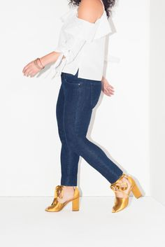 f209e8b623 How to Style Gap's Super Slimming Denim for a Night Out - Coveteur.com Style