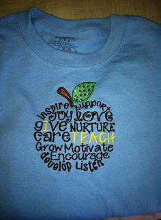 Teacher shirt by RagansCrazyCreations on Etsy, $20.00