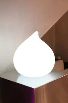 Dew drop lamp - waterproof, wireless, rechargeable, energy-efficient lantern for indoors or out. You choose between six colors or a lively mode that cycles through the color spectrum.