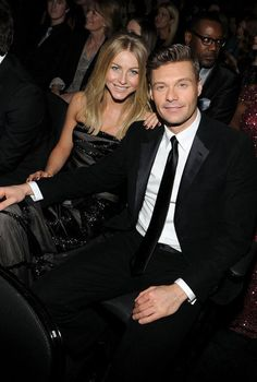 Julianne Hough and Ryan Seacrest at the Grammys