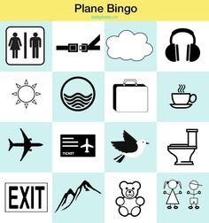 Free Download - Plane Bingo - Entertain the Kids while travelling - babybean.co