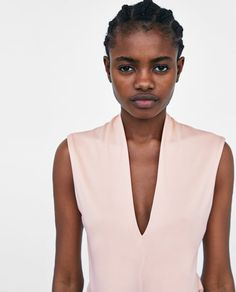 Zdjęcie 2 BODY Z DEKOLTEM W SEREK z Zara V Neck Bodysuit, Spring Summer 2018, Zara, Clothes, Style, Neckline, Outfits, Swag, Clothing