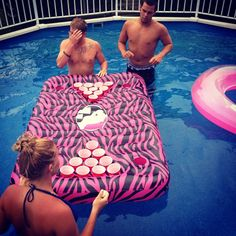 Floating Beer Pong Table! Definitely gotta try this summer!