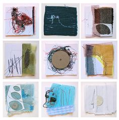 """jessica bell """"Assembly Objects"""", 2009 collage, metal, rayon mesh and thread on linen paper Collages, Mixed Media Collage, Collage Art, Art Journal Inspiration, Art Journal Pages, Graffiti Art, Textile Art, Altered Art, Fiber Art"""