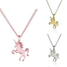 Women Girls Horse choker Licorneold silver chain Unicorn Pendant Necklace Gifts
