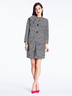 striped dorothy coat - kate spade new york