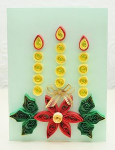 Quilling Christmas Card.