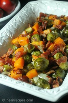 Brussel Sprouts, Butternut Squash, and Bacon
