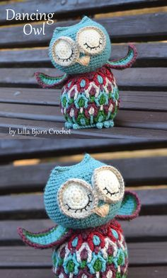Do you like owls? I LOVE them. If you you are obsessed with owls like me - this is the pattern for you :) By Lilla Bjorn Crochet http://www.lillabjorncrochet.com/2015/12/dancing-owl-crochet-pattern.html