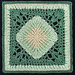Ribs and Lace Free Crochet Granny Square Pattern