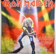 Iron Maiden Japan HUGE 4X4 banner poster tapestry cd album | eBay