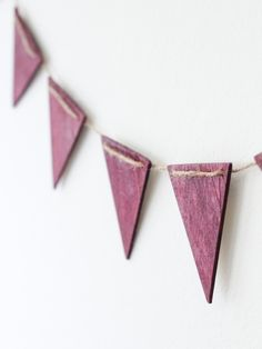 DIY Wooden Garland - could do a little decoupage on them