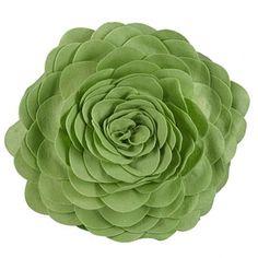 """How I Felt Flower Dec Pillow (Mint Green) - 13"""" diameter felt flower dec pillow.    http://www.wakeupfrankie.com/Products/324/2514/Accent+Pillows/How+I+Felt+Flower+Dec+Pillow+-+Mint+Green"""