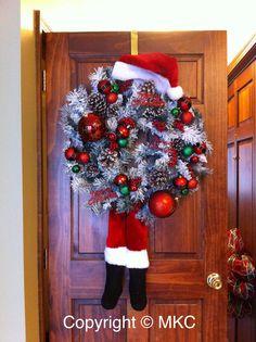 My version of the Santa wreath