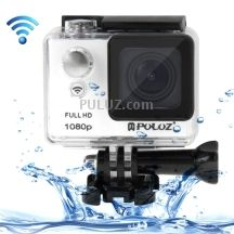 PULUZ U6000 Full HD 1080P 2.0 inch LCD Screen WiFi Waterproof Multi-function Sport Action Camcorder, 175-degree Wide-angle Lens, Support TF / HDMI / USB(White)