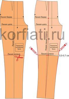 Х-образная форма ног - исправление выкройки Dress Sewing Patterns, Pattern Books, Handicraft, Leggings, Legs, Knitting, Pants, Clothes, Dresses