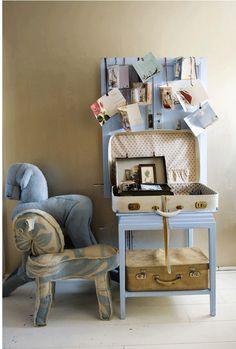 Let's Get Personal in the Netherlands with Natascha Boel - Bloesem Suitcase Display, Market Stalls, Trash To Treasure, Diy Storage, My Dream Home, Diy Design, Diys, Shabby Chic, Blanket