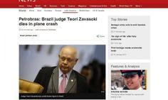 #News  Morte de Teori é destaque na imprensa internacional