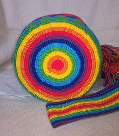"Photo from album ""Рукоделие"" on Yandex. Bead Crochet, Crochet Shawl, Tunisian Crochet, Tapestry Crochet Patterns, Crochet Handbags, Handmade Bags, Pattern Art, Lana, Purses And Bags"