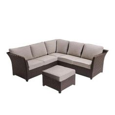 OVE Decors Clara 3 Piece Metal Outdoor Sectional Set With Beige Cushions