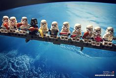 LEGO Lunch On The Death Star During Construction