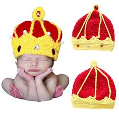 $2.77 (Buy here: https://alitems.com/g/1e8d114494ebda23ff8b16525dc3e8/?i=5&ulp=https%3A%2F%2Fwww.aliexpress.com%2Fitem%2FNew-Handmade-Crochet-King-Crown-Baby-Crystal-Pearls-Beanies-Hats-Caps-Newborn-Boy-Girl-Hat-Photography%2F32583665709.html ) New Handmade Crochet King Crown Baby Crystal Pearls Beanies Hats Caps Newborn Boy Girl Hat Photography Photo Costume Props B for just $2.77