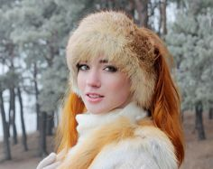 Handmade Real Fur Clothes and Accessories by FurForestfox Luxury Christmas Gifts, Christmas Gifts For Wife, Fur Hats, Warm Winter Hats, Fur Clothing, Fur Accessories, Trapper Hats, Ear Warmers, Fox Fur