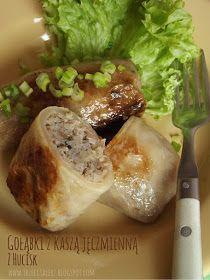 Gołąbki z kaszą jęczmienną z Hucisk - kuchnia podkarpacka Baked Potato, Pork, Potatoes, Meat, Baking, Ethnic Recipes, Pork Roulade, Patisserie, Pigs