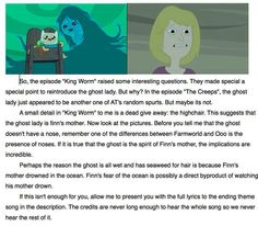 Adventure Time...even though we know about the ghost being finn's past life, i still love this theory