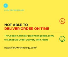 Not able to deliver orders on time. Try Google Calendar to schedule order delivery with alerts. Google Calendar, App Development Companies, Android Apps, Schedule, Delivery, Technology, How To Plan, Business, Timeline