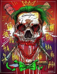 The Joker fan art -Oscar Zalles - Visit to grab an amazing super hero shirt now on sale! Joker Und Harley Quinn, Der Joker, Joker Art, Joker Batman, Batman Arkham, Joker Kunst, The Man Who Laughs, Joker Drawings, Jokers Wild