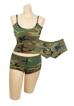 Womens Camo Shorts Very Short Length Woodland Camouflage Hot Summer Shorts 3376