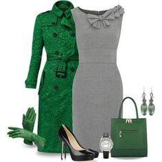 Classy outfits for women 8022105560032187 Style Work, Mode Style, Style Me, Classy Style, Work Fashion, Fashion Outfits, Womens Fashion, Green Fashion, Fashion Fashion