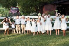 cute lineup at Cedarwood. Photo by Brooke Boling. http://shop.cedarwoodweddings.com/product/the-angelina