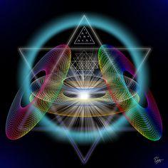 Sacred Geometry Art | Sacred Geometry 220 by Endre Balogh