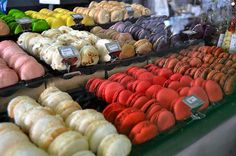 Macarons anyone? Another photo from yesterday's Salon du Chocolat.