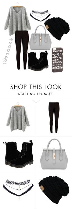 """Cute and comfy"" by jenwolf2121 ❤ liked on Polyvore featuring Chicnova Fashion, Dr. Martens, Wet Seal and JFR"