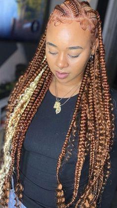 Braids For Black Women, Braids For Black Hair, Baddie Hairstyles, Cute Hairstyles, Quick Braided Hairstyles, Rainbow Braids, Curly Hair Styles, Natural Hair Styles, Black Kids Hairstyles
