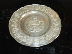 Peru SIAM Sterling Silver .925 Ibero-American States Commemorative Plate 103 G #SIAM