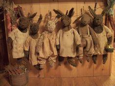 Line of primitive bunnies!