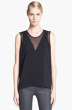HELMUT Helmut Lang 'Nexa' Mesh Inset Top available at #Nordstrom