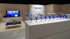 The SONY CES exhibit at the Mirage.